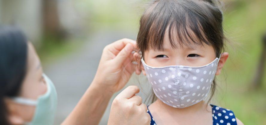 Máscaras de pano para crianças durante a Covid-19