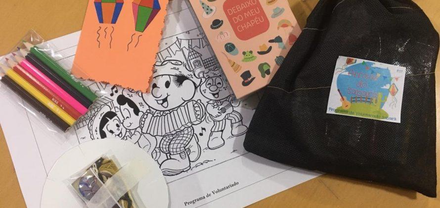 """Programa de Voluntariado do Instituto PENSI realiza ação em alusão as festas juninas e """"julinas"""" com crianças que passavam por atendimento no Hospital Infantil Sabará"""